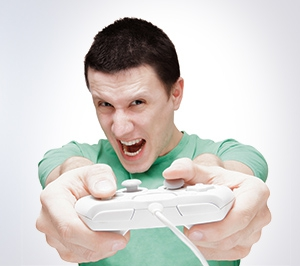 Illsutration Jeux videos accro